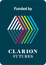CLARION Futures logo Funded by NAVY CMYK